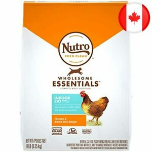 NUTRO WHOLESOME ESSENTIALS Indoor Adult Dry Cat Food Chicken & Brown Rice, 6.35