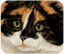 MOUSE PAD--Calico CAT FACE--Printed in the U.S.A.--Polyester/Neoprene