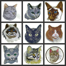 Beautiful Cats Faces Embroidered Iron On Patches