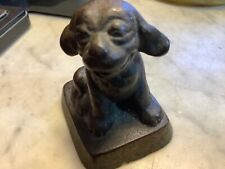 RARE VINTAGE HUBLEY ? DOG PUPPY CAST IRON LARGE PAPERWEIGHT