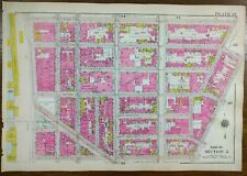 Vintage 1916 Soho Manhattan New York City Map ~ Broadway Prince Spring St