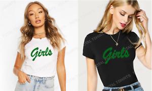Womens GIRLS T Shirt Friends Rachel Short Sleeve Vintage Fashion Green Retro TV
