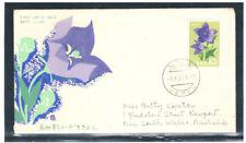JAPAN 1961 Bellflower FDC to Australia (Sakura 600 y)
