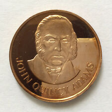 1971 John Quincy Adams Proof-Like Solid Bronze Medal Danbury Mint A5331