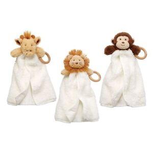 Mud Pie E9 Baby Teething Safari Woobies 14in 12110034 Choose Design