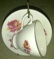 Royal Dover Tea cup & saucer set pink roses  bone china Made in England vintage