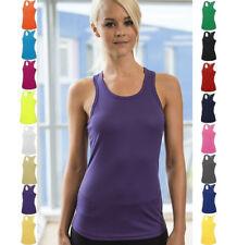 Women's Sports Tank Top T-Shirt Girlie Vest Sleeveless Fitness Gym Xs - XL Top