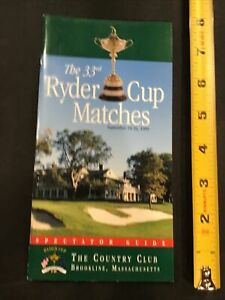 1999 Ryder Cup Brookline Mass Golf Spectator Guide Program