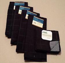 Kitchen Accessory Set Microfiber Hand Towel Dish Cloth Scrubbie Black NEW