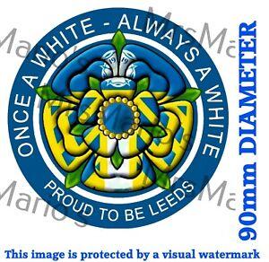 Leeds style Football static cling car window/glass sticker FREE domestic P&P