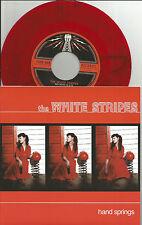 WHITE STRIPES Hand Springs RED BLACK SWIRL RSD 7 INCH VINYL 45 Record Store day