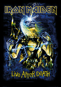 IRON MAIDEN live after death v2  Textile poster fabric flag