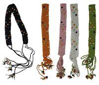 Macrame Knots Fringe String Belt for Women with Wood Beads