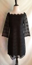 White House Black Market Small Scalloped Victorian Lace Shift Cocktail Dress