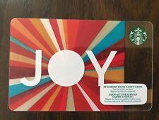 "Canada Series Starbucks ""JOY 2015"" Gift Card - New No Value"