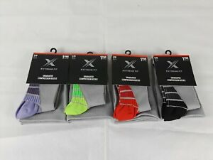 Extreme Fit Mens Graduated Compression knee High Socks 4 Pack New
