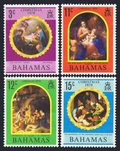 Bahamas 309-312,MNH.Michel 314-317,Bl.3. Christmas 1970.Pittoni,Raphael Mengus,