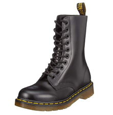 Dr. Martens 1490 Men's lace-up boots, black-smooth leather 11857 001, 8 or 9 UK