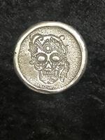 "1 Oz .999 FS MK BarZ Stamped ""Art Deco Sugar Skull"""