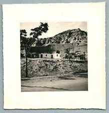 España, Guadix, Purullena, Casas Cuevas Vintage silver print. Spain  Tirage ar
