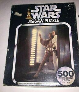 Star Wars Jigsaw Puzzle Luke & Leia Vintage 1977 Original