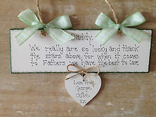 Personalised Fathers Day Gift -Birthday Gift Idea Handmade Wooden Keepsake Sign