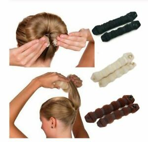 Hot Buns 2pc Hair Elegant Magic Style Bun Maker choice of color
