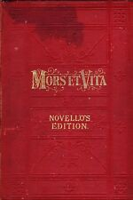 Music: MORS ET VITA A Sacred Trilogy by CHARLES GOUNOD, 1885, HB, 1st Edition