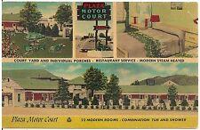Plaza Motor Court in Roanoke VA Multiview Postcard