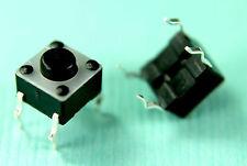 Jeil 12V DC 50 mA Tactile Push Button Switch 4 pins legs 6x6 mm SPST (10 pieces)