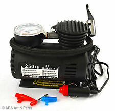 12V Mini Compact Air Compressor 250psi tyre inflator pump car van cigarette New
