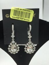 clear Teardrop Earrings V6 $58 Givenchy Silver Tone