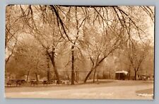 Northfield Minnesota MN Tourist Park Camper Real Photo Postcard RPPC 1930-50