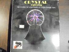 """Crystal Lightning Plasma Ball Sphere Night Light """"The Power At Your Finger Tips"""""""