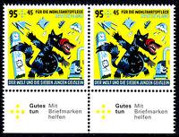 3523 postfrisch Paar waagerecht Rand unten BRD Bund Deutschland Jahrgang 2020