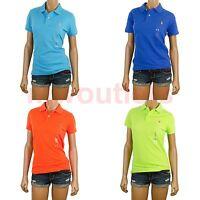 Polo Ralph Lauren WOMENS SKINNY FIT MESH POLO Short Sleeve Shirt T-Shirt