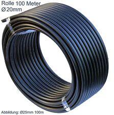 PE HD Rohr Wasserleitung Kunststoffrohr Bewässerung Wasserrohr PE-Rohre 20 mm