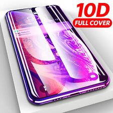 10D Full Cover Tempered Glass Screen Protector for iPhone 6 7 8 Plus X XR XS Max