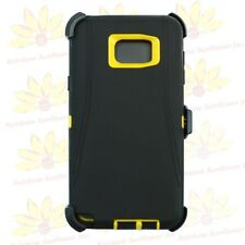 For Samsung Galaxy Note 5 Case (Belt Clip Fits OtterBox Defender) Black Yellow