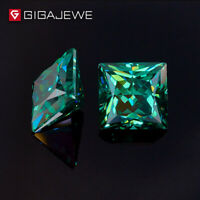Princess Cut Deep Green Moissanite Loose Gemstone  For Jewelry Making 100% Real