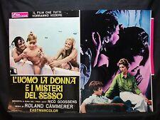 FOTOBUSTA CINEMA - L'UOMO LA DONNA E I MISTERI DEL SESSO - R. CAMMERER - 1971