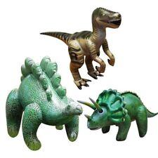Inflatable Dinosaurs - set of 3 , Stegosaurus, Triceratops, Velociraptor