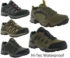 Mens HI-TEC Bandera II Low Waterproof Hiking Walking Shoes Smokey Brown/snow 8 UK