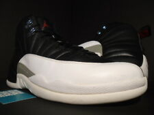 NIKE AIR JORDAN XII 12 RETRO PLAYOFF BLACK WHITE GREY TAXI WINGS 130690-001 13
