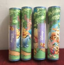 "Lot of 4 Disney Winnie Pooh Tigger Wallpaper Border Paper DF059121B prepasted 7"""