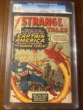 STRANGE TALES #114 11/63 CGC 8.0 OWW ICONIC CAPTAIN AMERICA COVER!  HIGH GRADE!