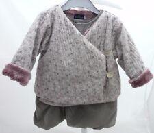 Sergent Major ensemble robe sans manche et veste mauve pâle bébé fille 6 mois
