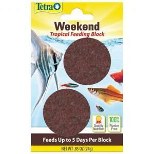 NEW TetraWeekend Tropical Slow Release Plaster-Free Gel Formula Block Feeder 24g