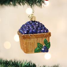 OLD WORLD CHRISTMAS BASKET OF BLUEBERRIES GLASS CHRISTMAS ORNAMENT 28102