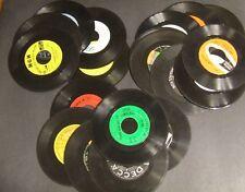 LOT 10 + Vintage Vinyl 7 inch 45 Records for Crafts Decoration